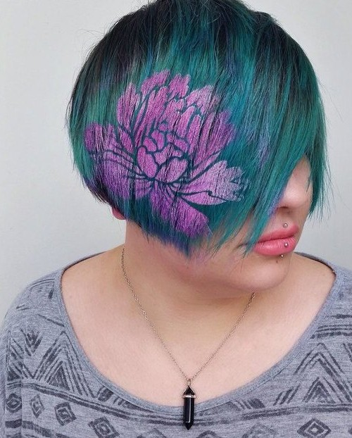 pictures of flower on hair 2016