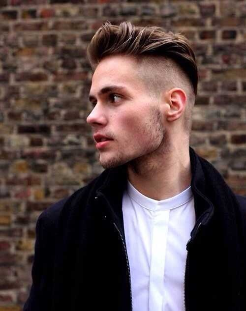 shaved sides pomp hairstyle for 2016