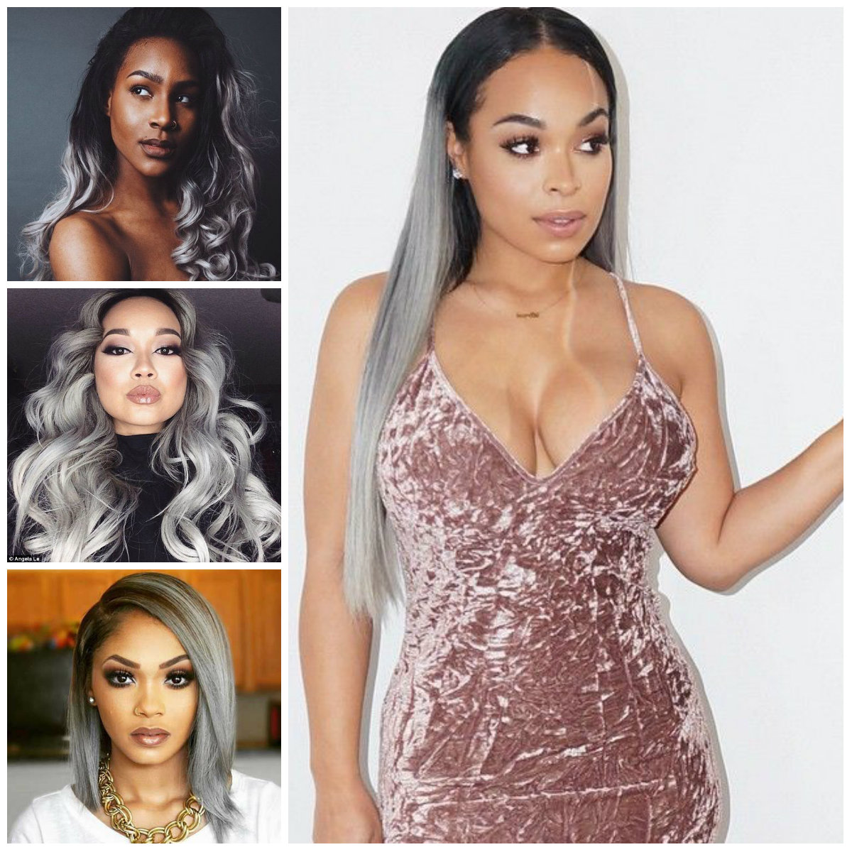 2016 Grey Hair Color Ideas for Black Women