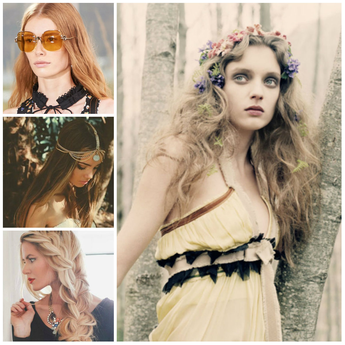 Boho Inspired Hairstyles for Long Hair