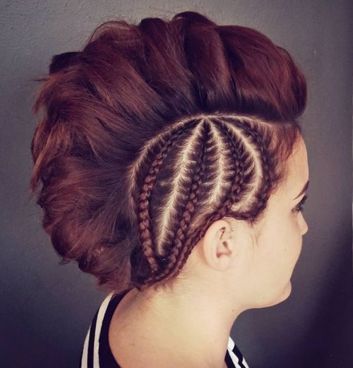 Braided Sides Mohawk Hairstyle