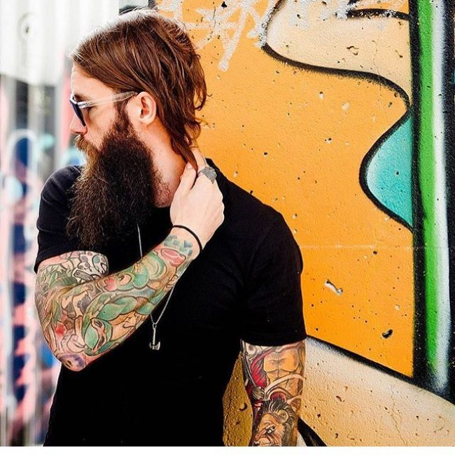 Chin Length Hair with Long Beard