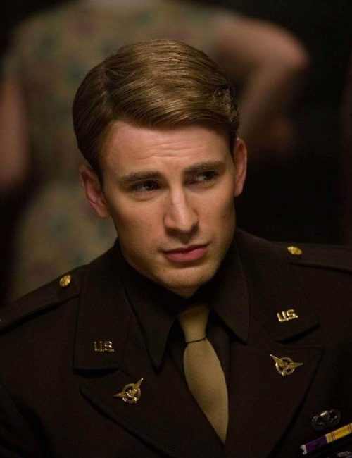 Chris Evans Retro Inspired Hairstyle