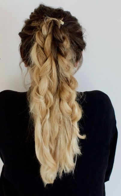 Double Dutch Braided Ponytail