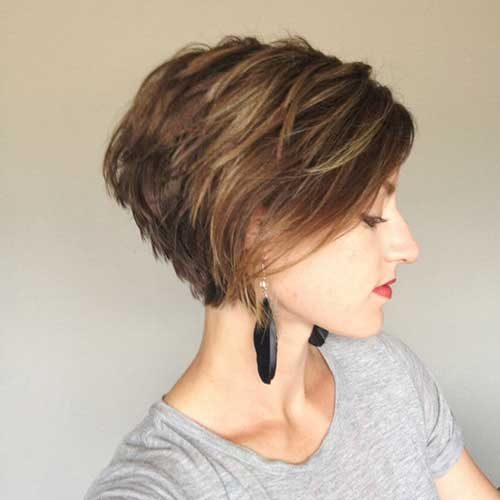 Layered Pixie Haircut with Fringe