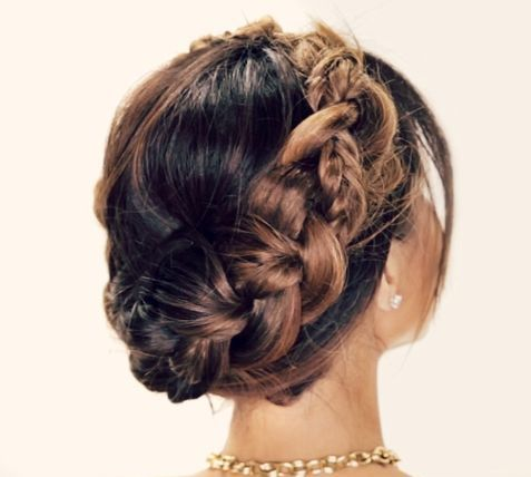 Merged Braids updo hairstyle 2016