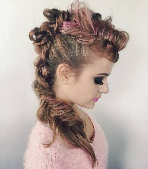 Pink Braided Mohawk