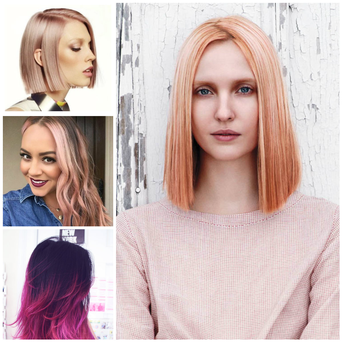 Pink Hair Highlights For 2017 2019 Haircuts Hairstyles And Hair