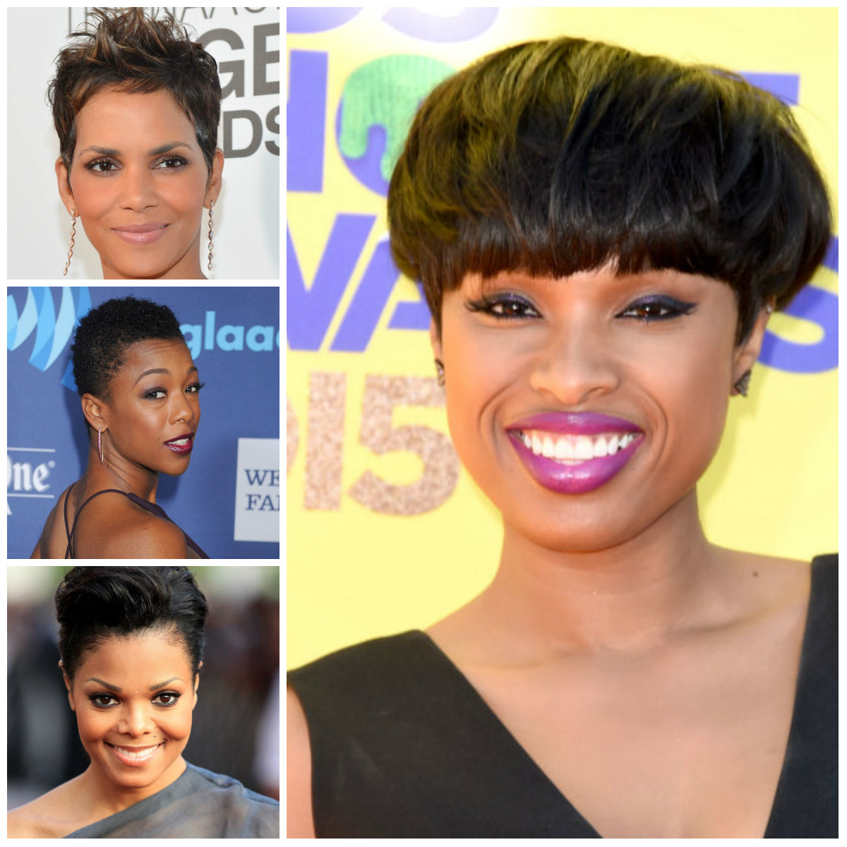 Short Hairstyles by Afro American Celebrities