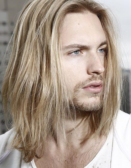blonde hair with goatee