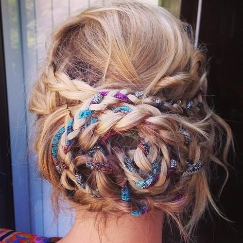 bohemian updo hairstyle