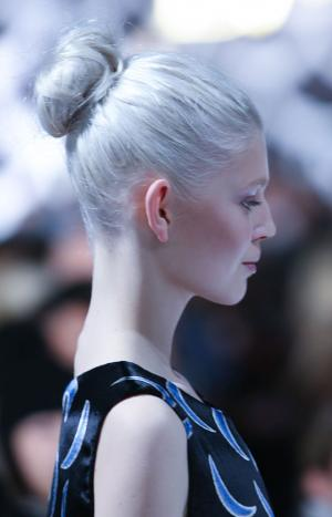 cool Ballerina Bun runway inspired