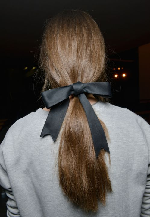 cool Low Ponytail runway inspired