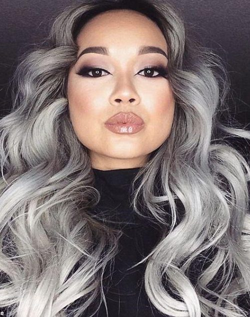 grey hair color for afro american women