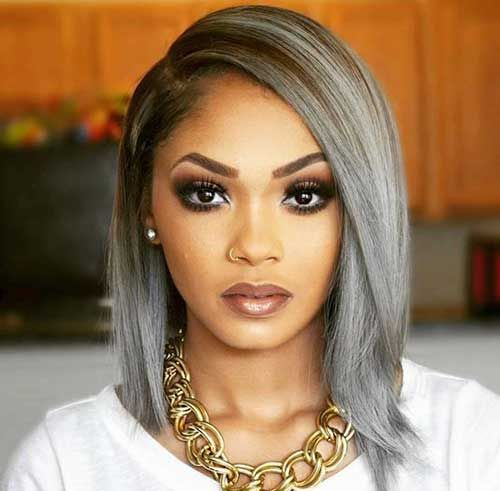 2016 grey hair color ideas for black women 2017 haircuts hairstyles and hair colors. Black Bedroom Furniture Sets. Home Design Ideas