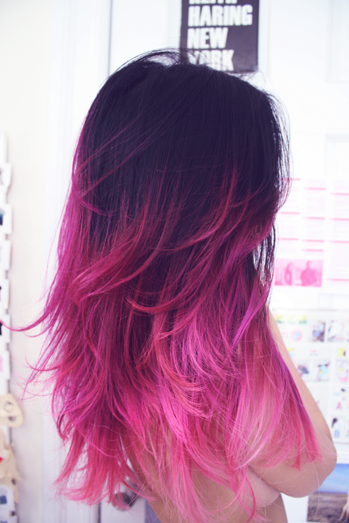 purple pink hair for 2017