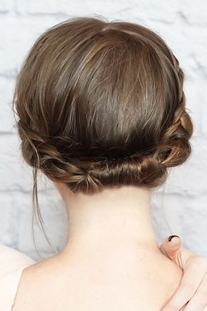 rolled braid updo