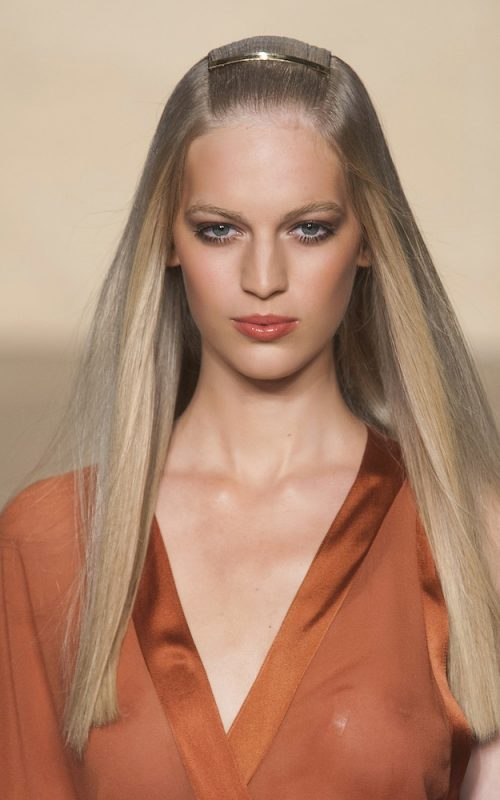straight long hair from runway shows
