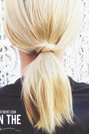 twisted ponytail for short hair