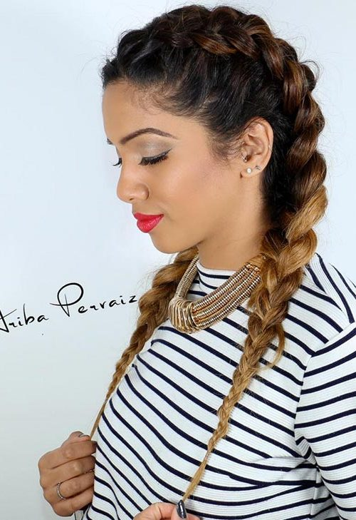 Black ombre boxer braids