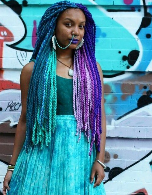 Double color yarn braids for 2017
