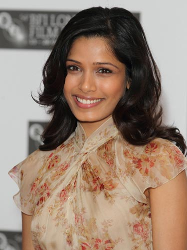 Freida Pinto Dark Hair 2017