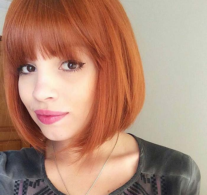 Fringe bob hairstyle for 2017