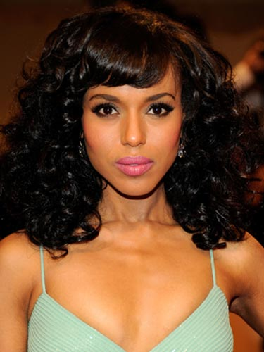 Kerry Washington Dark Tresses