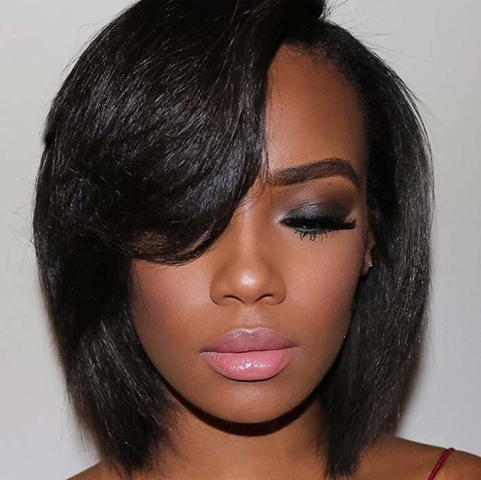 bob hairstyle with side bang