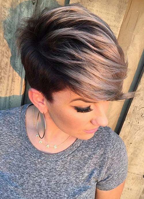smokey pixie hairstyle for 2017