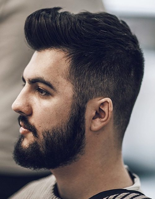 Dark Hair and Bearded Style