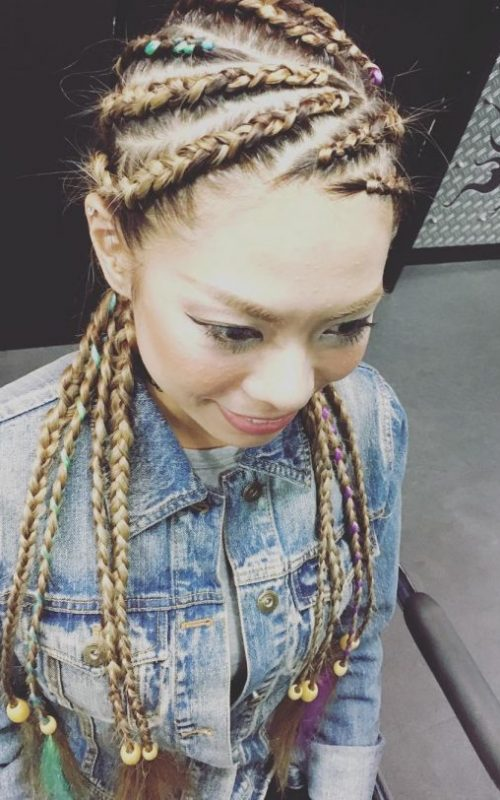 cool multidirectional cornrows