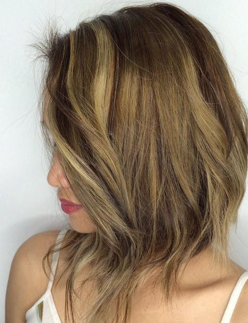 cool golden bob hairstyle