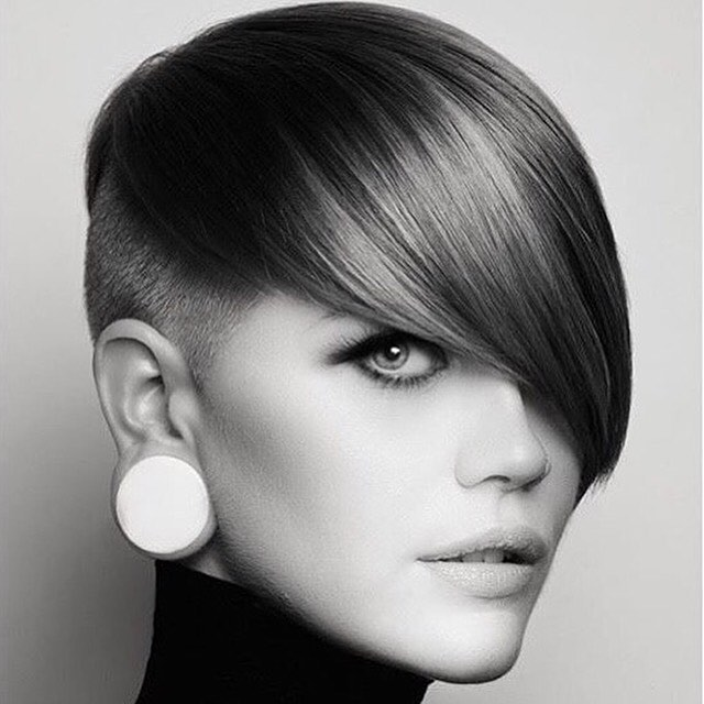 side swept pixie haircut for women 2017