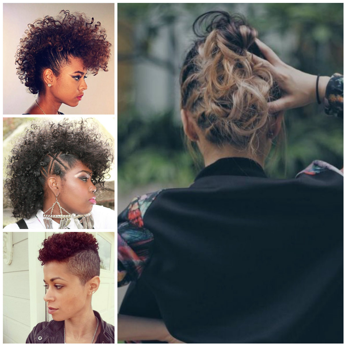 Curly Mohawk Hairstyles for Women 2017