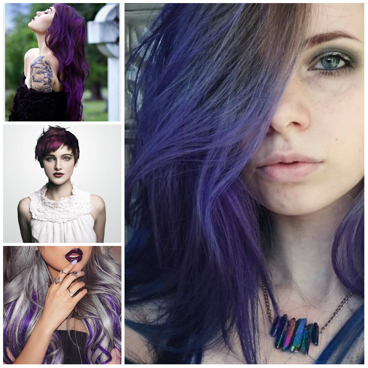 Dark Purple Hair Color Ideas | 2019 Haircuts, Hairstyles ...