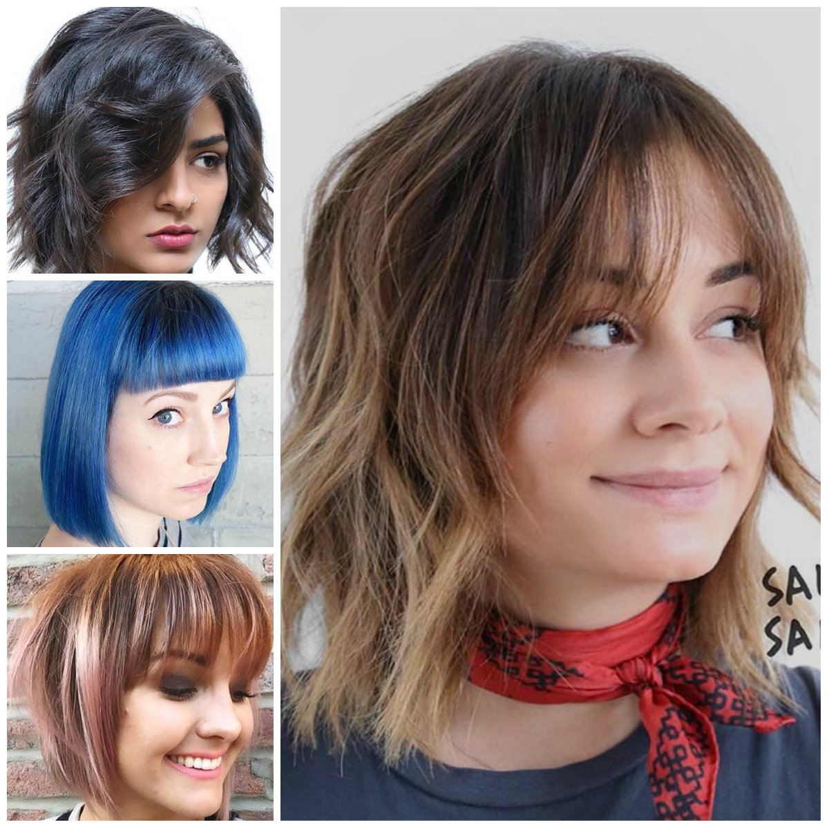 Flattering Bob Haircuts with Bangs