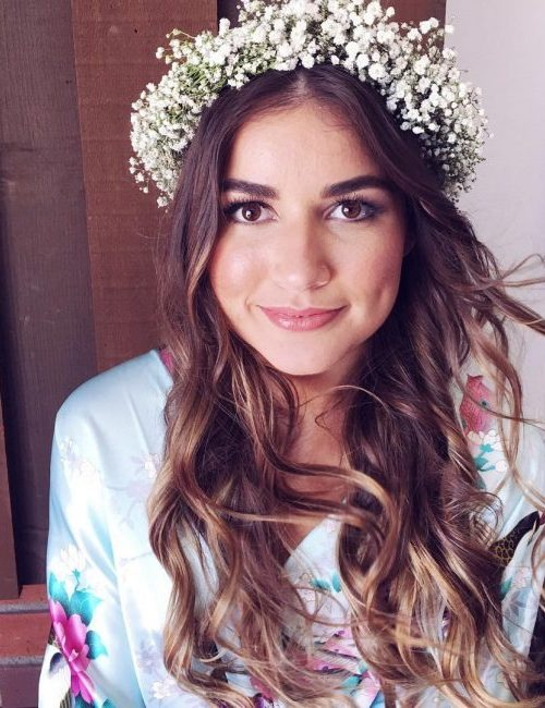 Free Flowing Locks with Flower Crown