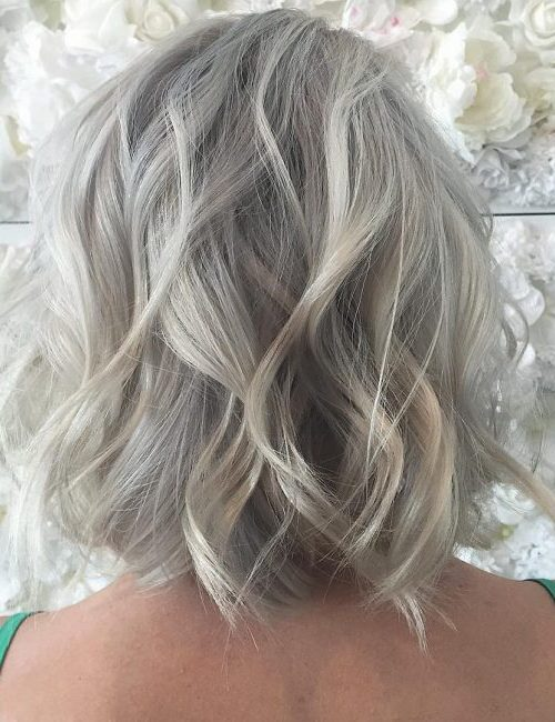 Icy Blonde with Highlights