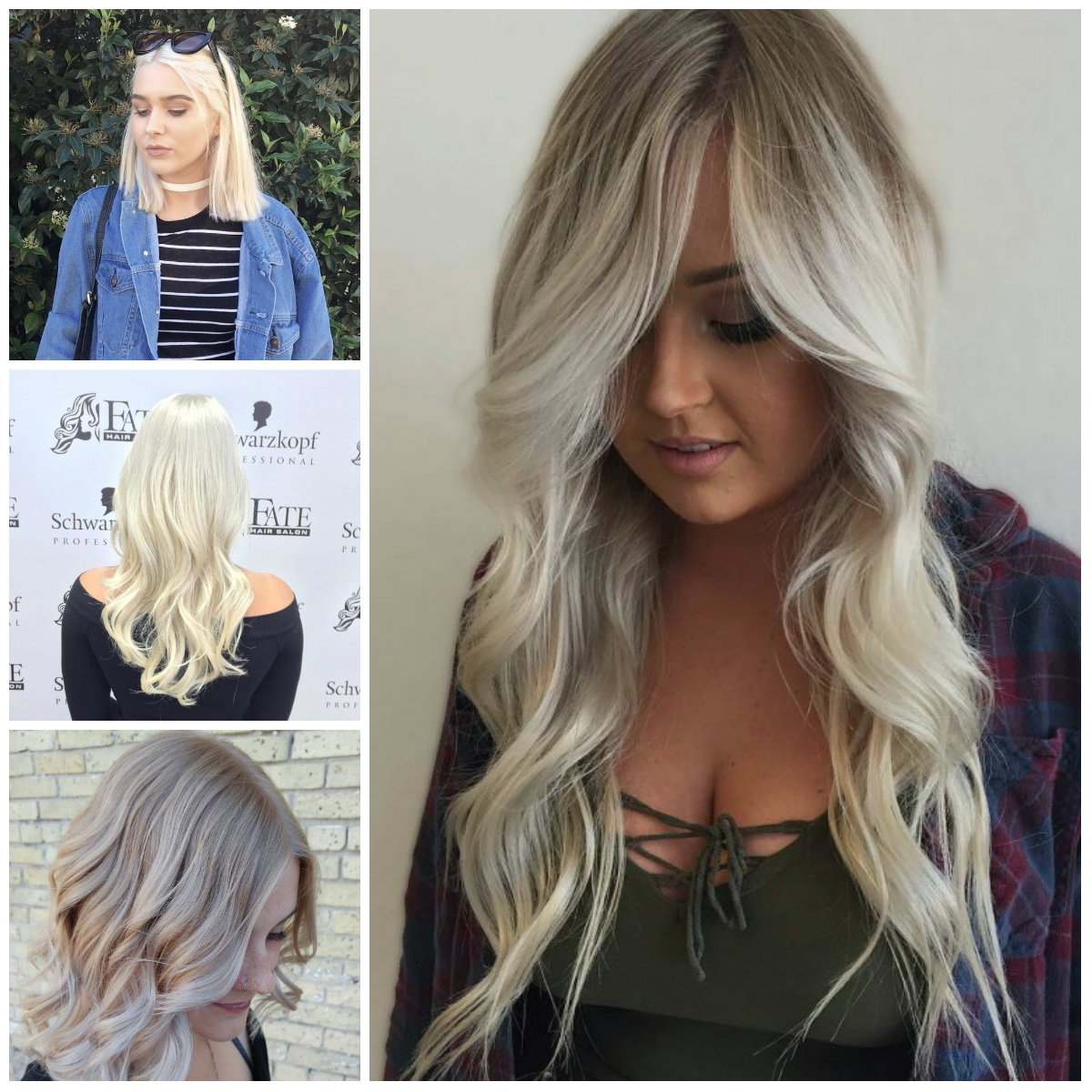 Subtle White Blonde Hair Ideas