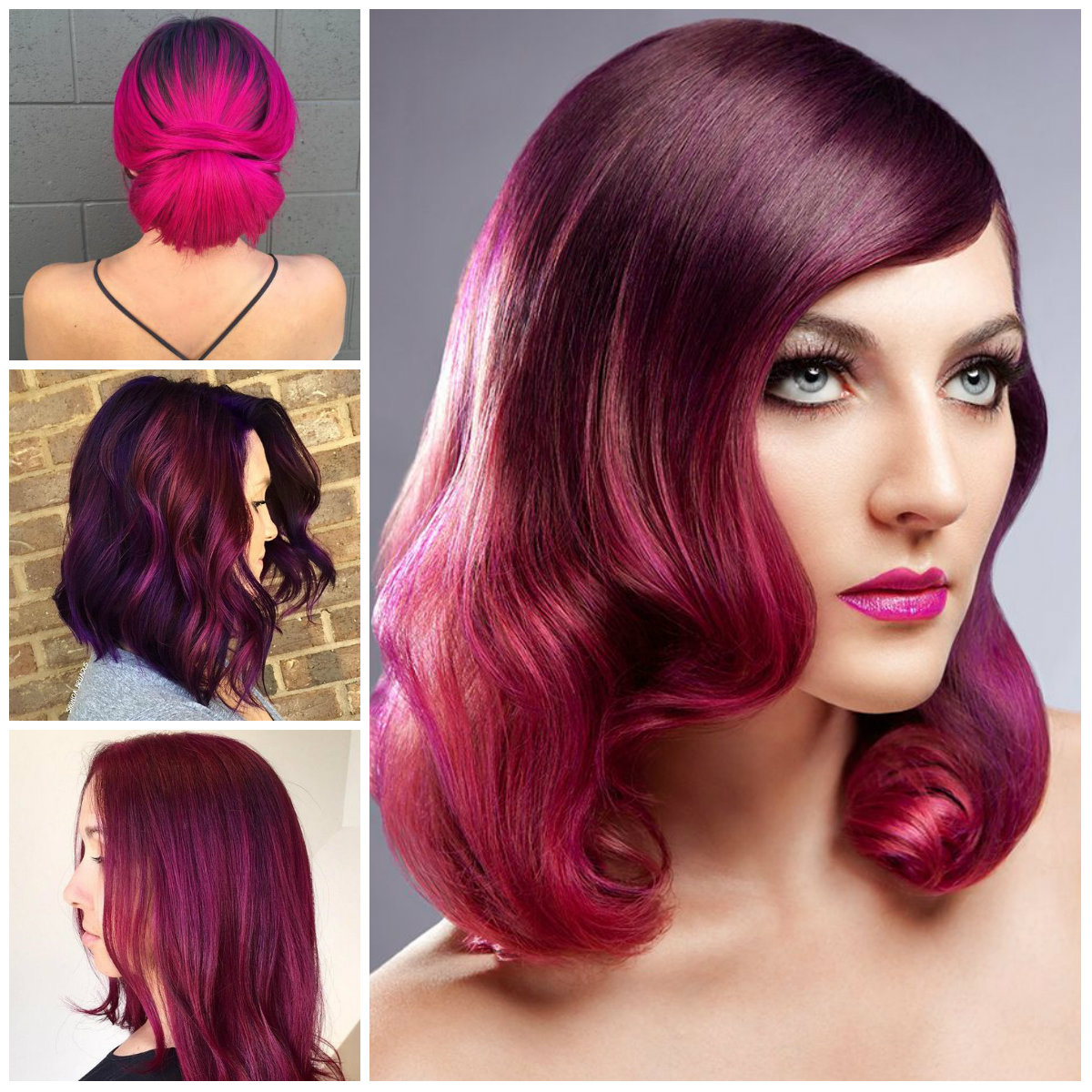 Best Hairstyles for Magenta Hair Color | 2019 Haircuts ...