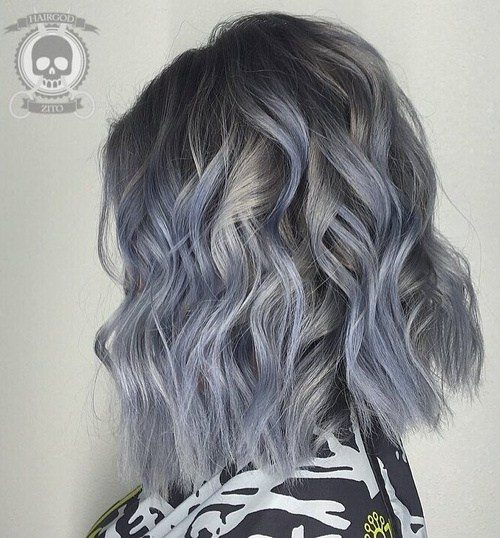 Blue Grey Strands