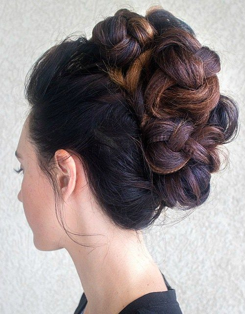Crimped Formal Updo