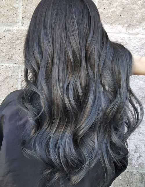 Dark Grey Hair