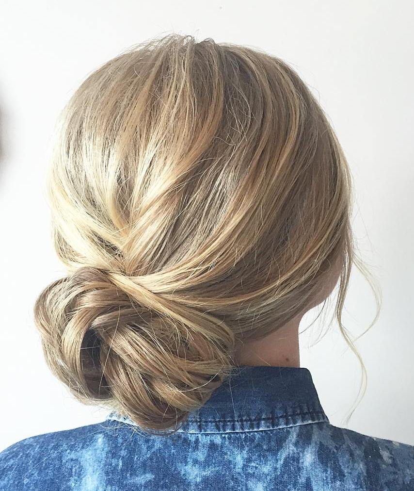 Low Side Bun for Thin Hair