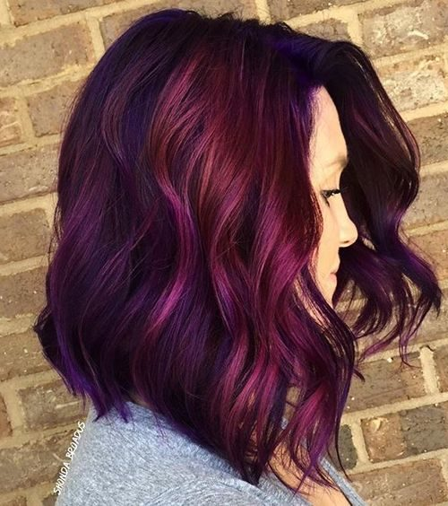 Magenta with Highlights