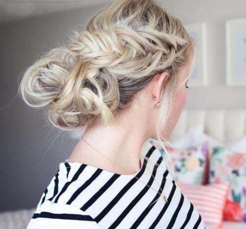 Messy Fishtail Updo