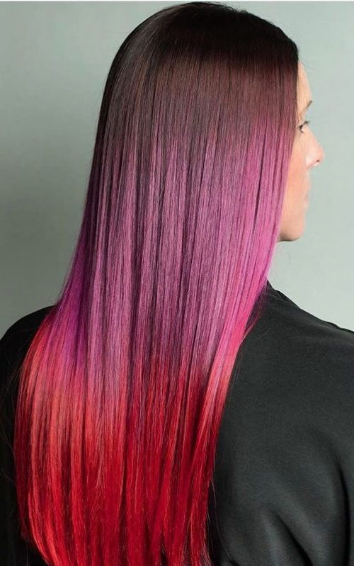 Red Violet to Deep Red Ombre