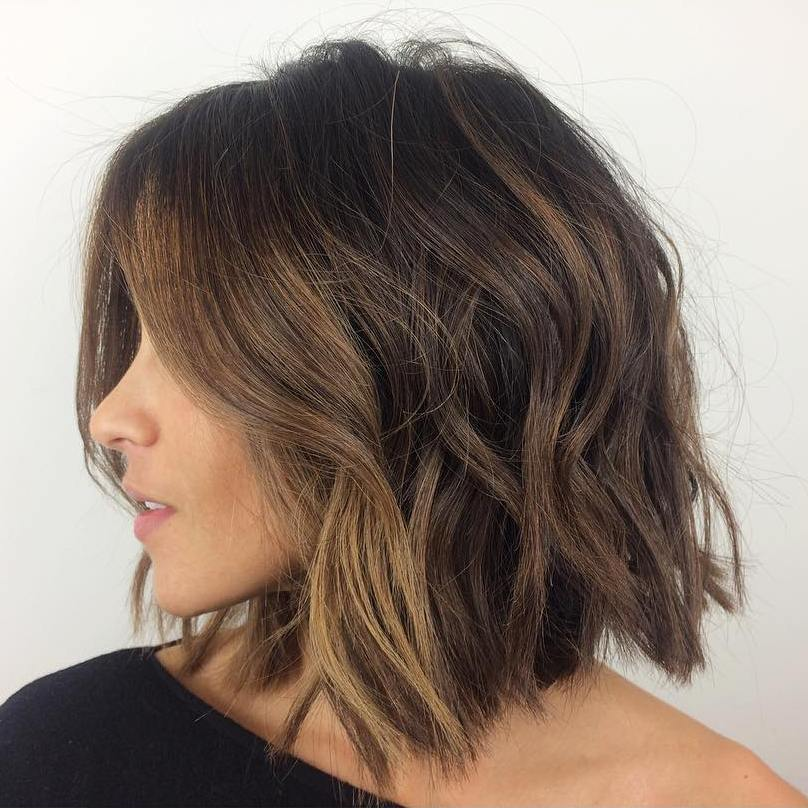 Shaggy Bob with Face Framing Balayage