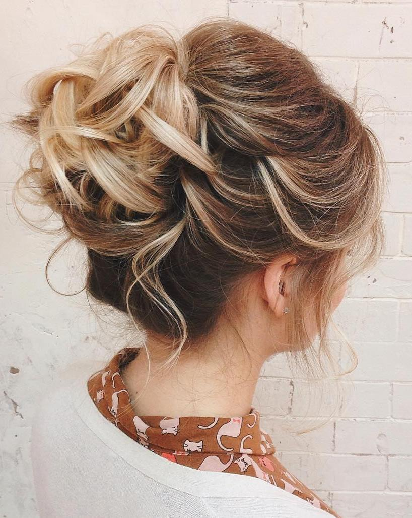 Subtle Hairdo with Pinned Up Tips